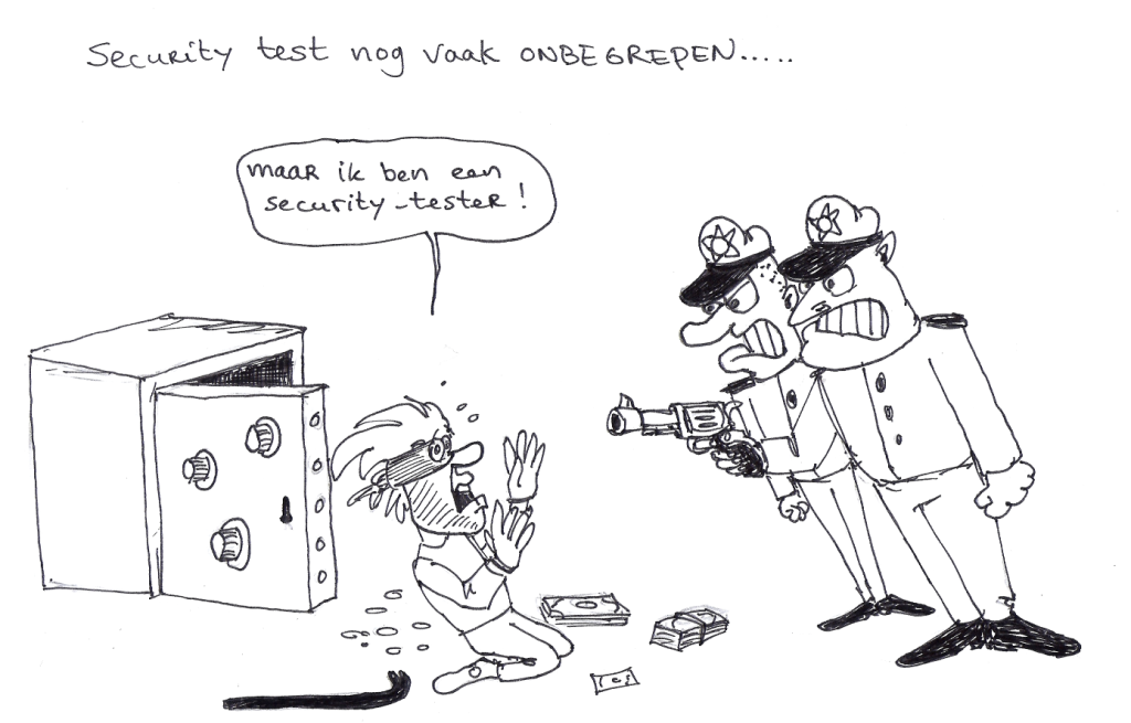 Cartoon: Security test nog vaak onbegrepen