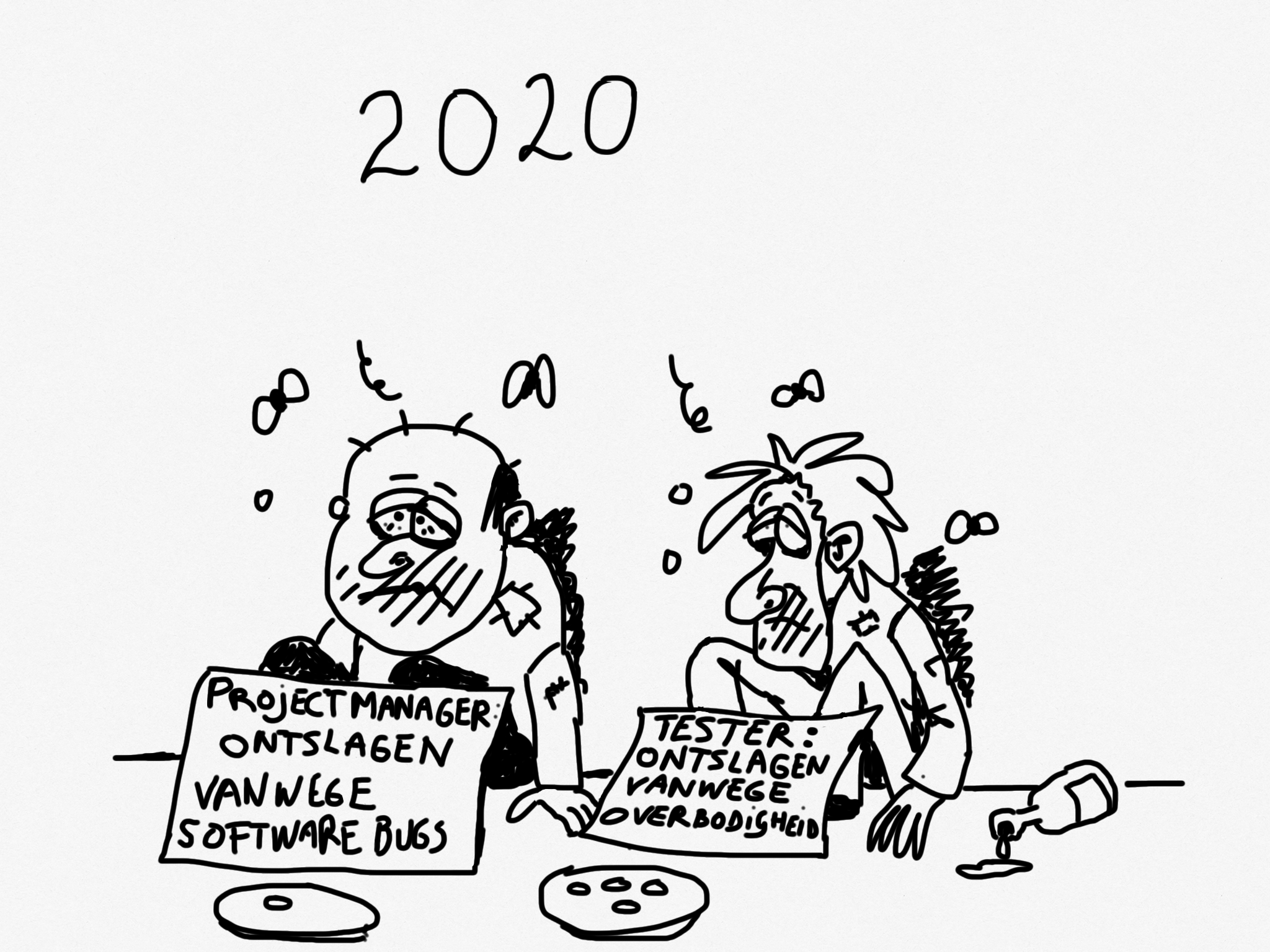 Cartoon: Testers overbodig in 2020!