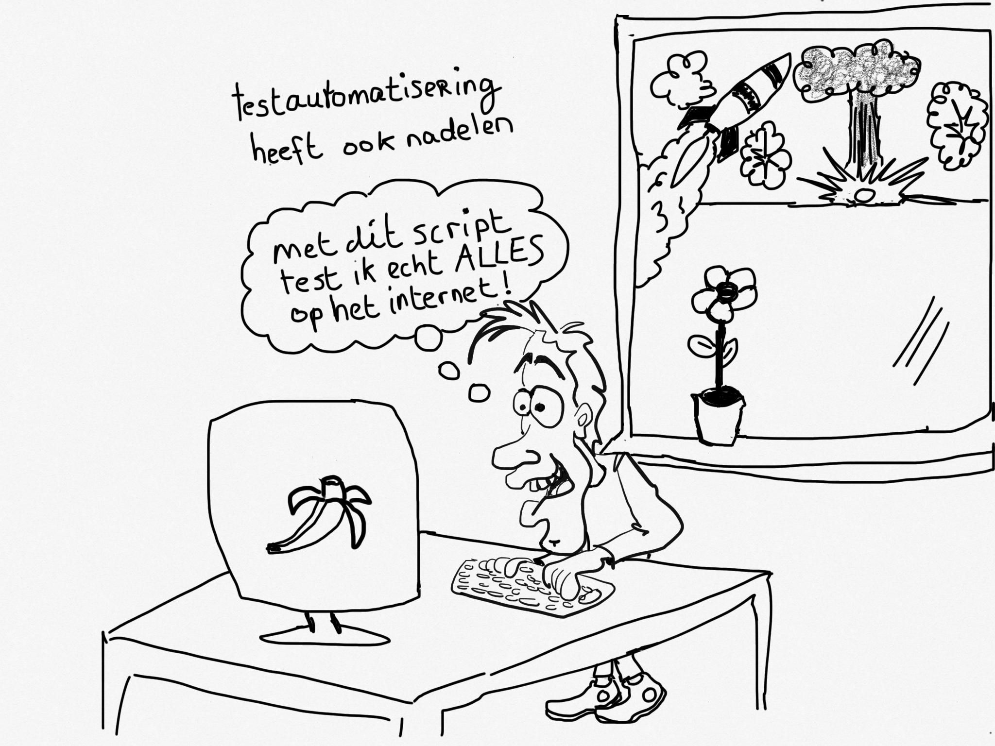 Cartoon: Testautomatisering…